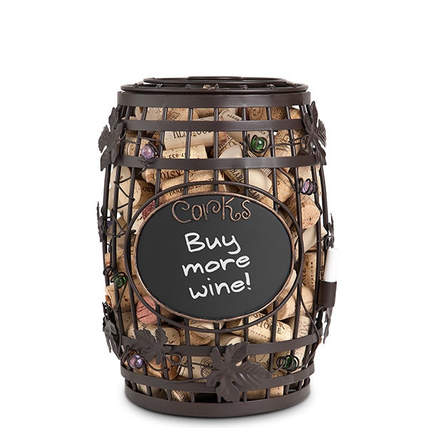 Chalkboard Barrel Cork Holder