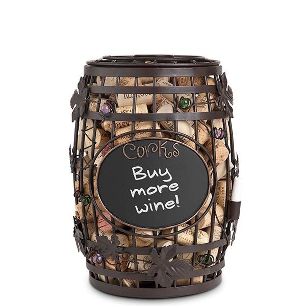 Chalkboard Barrel Cork Holder