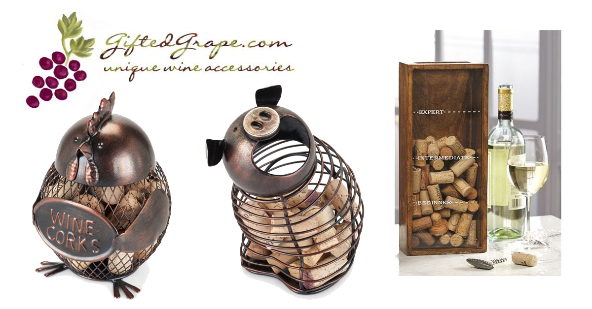 Cork cages at GiftedGrape.com