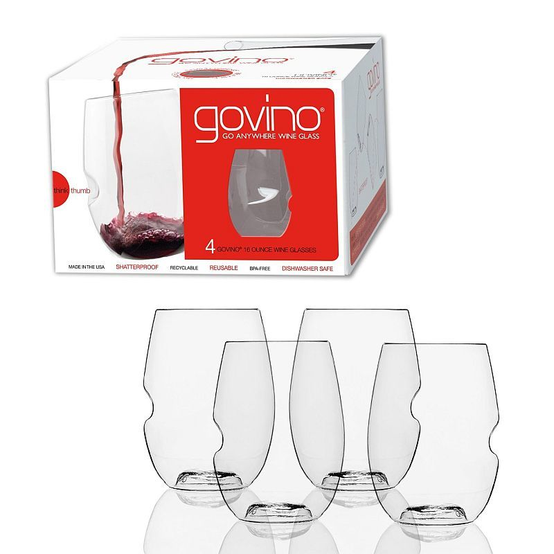 govino Acrylic Dishwasher Safe Stemless Wine Glasses