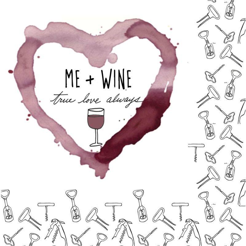 Me + wine cocktail napkins