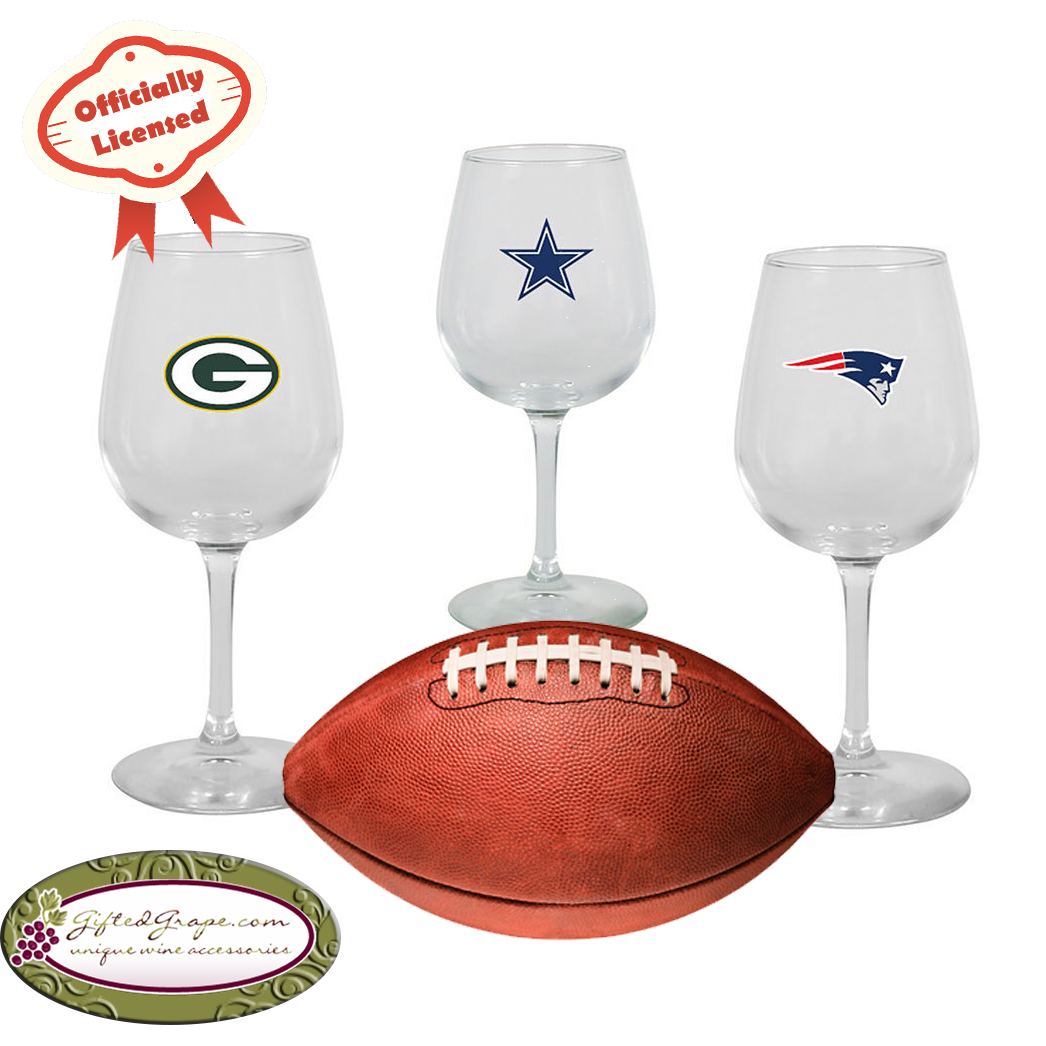 NFL Team Logo Wine Glasses