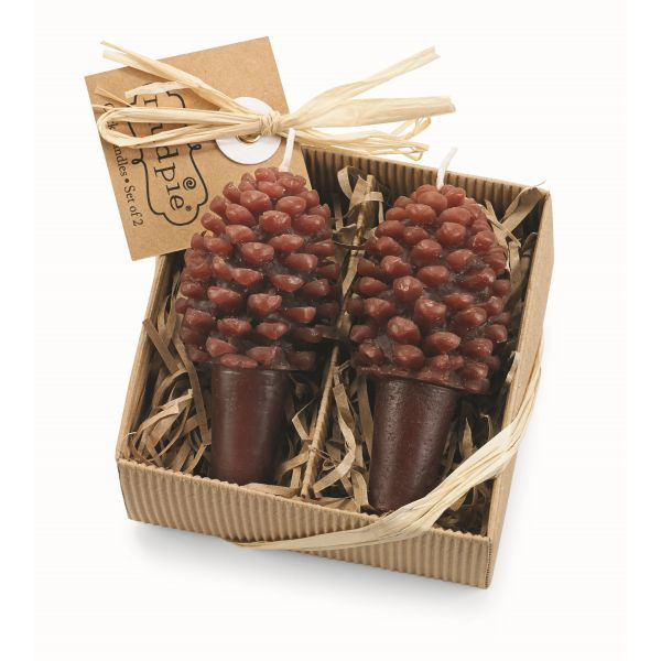 Pine Cone Wine Bottle Candles