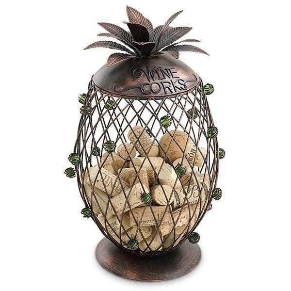 Pineapple cork holder cage