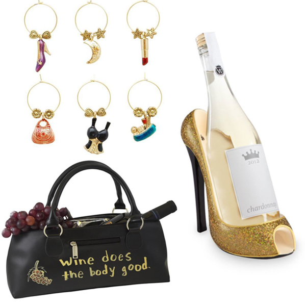 Purse and Shoe Wine Lover's Gift Set