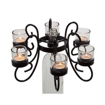 Votive Wine Bottle Candelabra