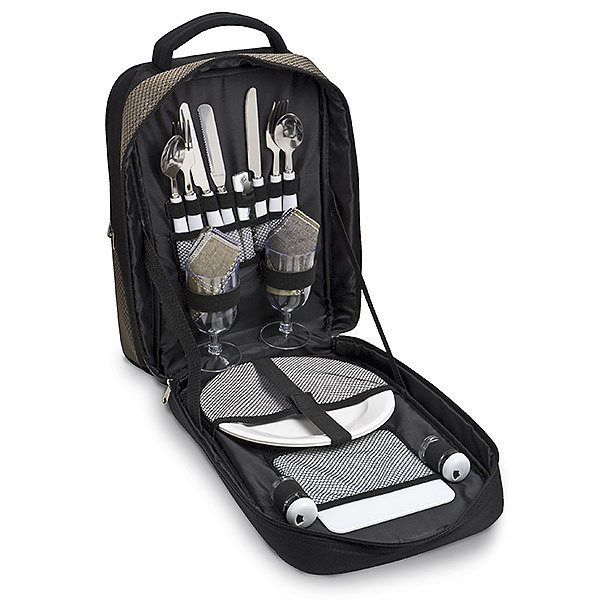 Wine Picnic Backpack with Service for 2